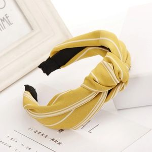 Accessories - Bow Knotted Headband Yellow Mustard